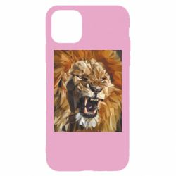 Чохол для iPhone 11 Lion roars low poly style