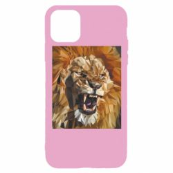 Чохол для iPhone 11 Pro Lion roars low poly style