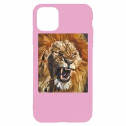 Чохол для iPhone 11 Pro Max Lion roars low poly style