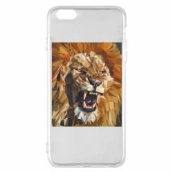Чохол для iPhone 6 Plus/6S Plus Lion roars low poly style