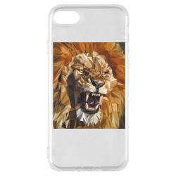 Чохол для iPhone 7 Lion roars low poly style