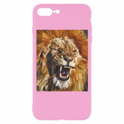 Чохол для iPhone 7 Plus Lion roars low poly style