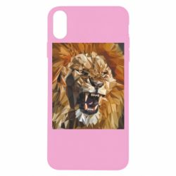 Чохол для iPhone X/Xs Lion roars low poly style