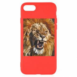 Чохол для iPhone 8 Lion roars low poly style
