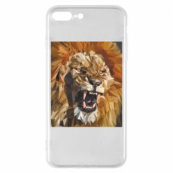 Чохол для iPhone 8 Plus Lion roars low poly style