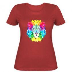 Женская футболка Lion vector