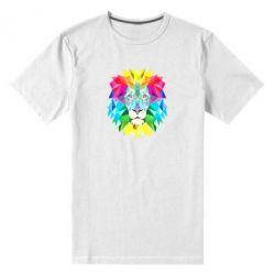 Мужская стрейчевая футболка Lion vector