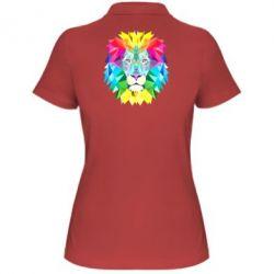 Женская футболка поло Lion vector