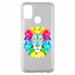 Чехол для Samsung M30s Lion vector