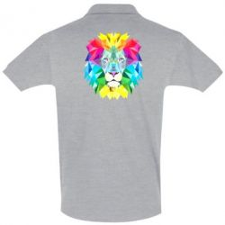 Мужская футболка поло Lion vector