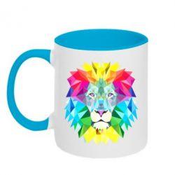 Кружка двухцветная 320ml Lion vector