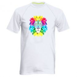 Купить Мужская спортивная футболка Lion vector, FatLine