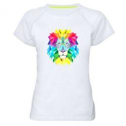 Купить Женская спортивная футболка Lion vector, FatLine
