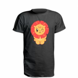 Удлиненная футболка Lion with orange mane