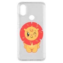 Чехол для Xiaomi Mi A2 Lion with orange mane