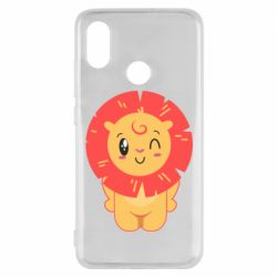 Чехол для Xiaomi Mi8 Lion with orange mane