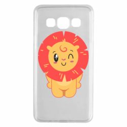 Чехол для Samsung A3 2015 Lion with orange mane