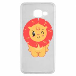 Чехол для Samsung A3 2016 Lion with orange mane