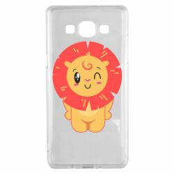 Чехол для Samsung A5 2015 Lion with orange mane