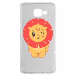 Чехол для Samsung A5 2016 Lion with orange mane