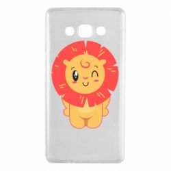 Чехол для Samsung A7 2015 Lion with orange mane