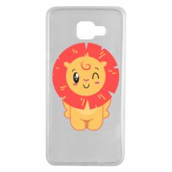 Чехол для Samsung A7 2016 Lion with orange mane