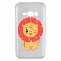 Чехол для Samsung J1 2016 Lion with orange mane
