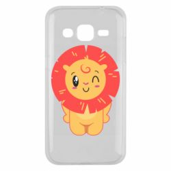 Чехол для Samsung J2 2015 Lion with orange mane