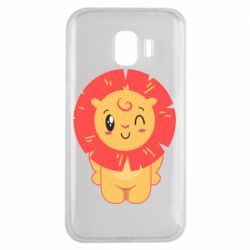 Чехол для Samsung J2 2018 Lion with orange mane