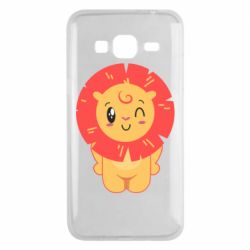 Чехол для Samsung J3 2016 Lion with orange mane