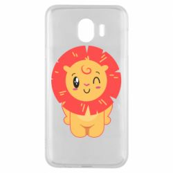 Чехол для Samsung J4 Lion with orange mane