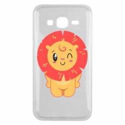 Чехол для Samsung J5 2015 Lion with orange mane