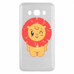 Чехол для Samsung J5 2016 Lion with orange mane