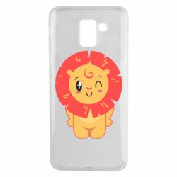 Чехол для Samsung J6 Lion with orange mane