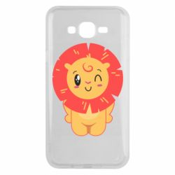 Чехол для Samsung J7 2015 Lion with orange mane
