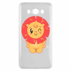 Чехол для Samsung J7 2016 Lion with orange mane