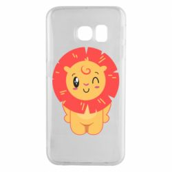 Чехол для Samsung S6 EDGE Lion with orange mane