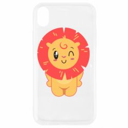 Чехол для iPhone XR Lion with orange mane