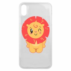 Чехол для iPhone Xs Max Lion with orange mane