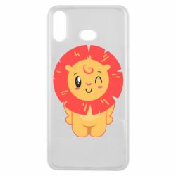Чехол для Samsung A6s Lion with orange mane