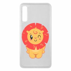 Чехол для Samsung A7 2018 Lion with orange mane