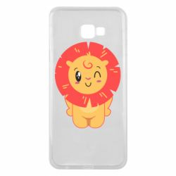Чехол для Samsung J4 Plus 2018 Lion with orange mane