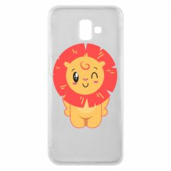 Чехол для Samsung J6 Plus 2018 Lion with orange mane