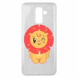 Чехол для Samsung J8 2018 Lion with orange mane