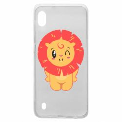Чехол для Samsung A10 Lion with orange mane