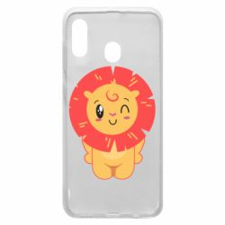 Чехол для Samsung A30 Lion with orange mane