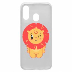 Чехол для Samsung A40 Lion with orange mane