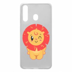 Чехол для Samsung A60 Lion with orange mane