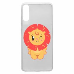 Чехол для Samsung A70 Lion with orange mane
