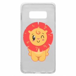 Чехол для Samsung S10e Lion with orange mane